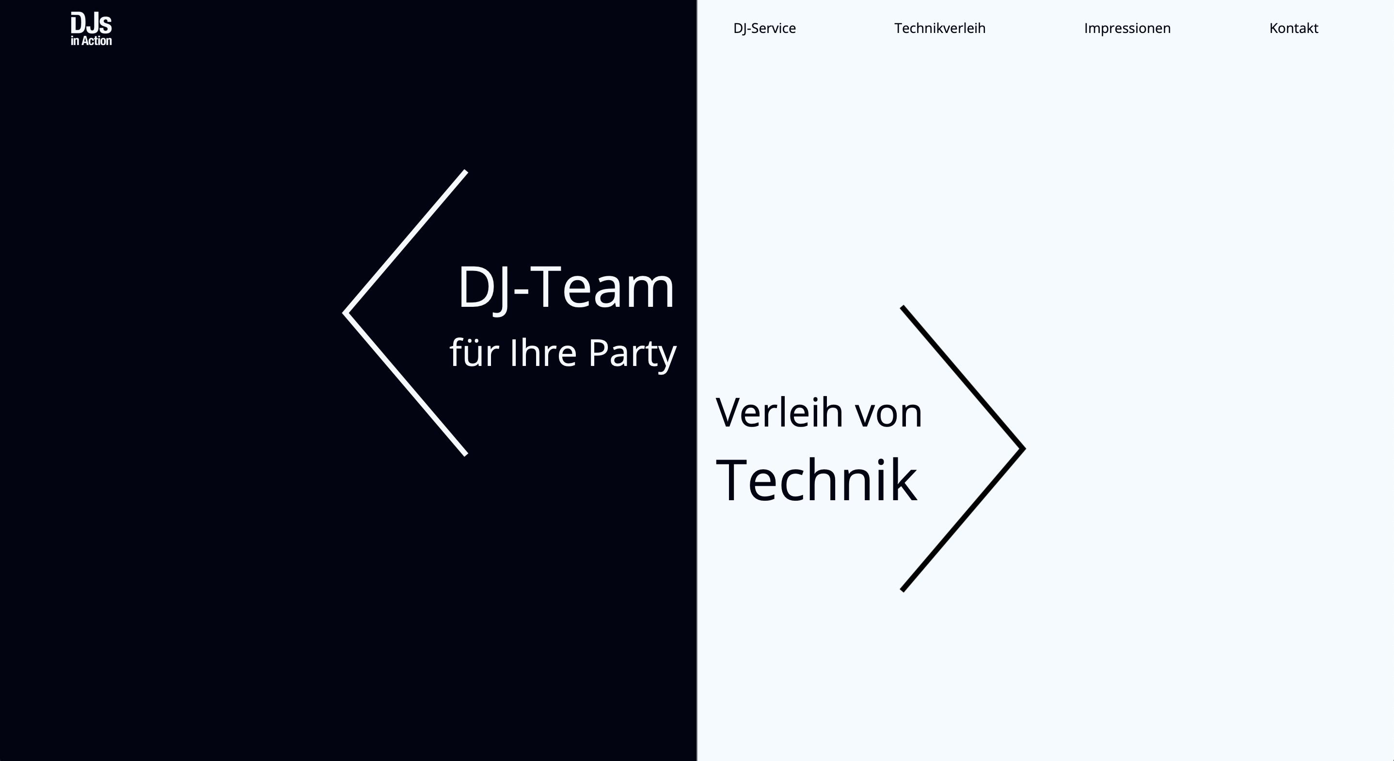 Webdesign Projekt für mobilen DJ Service sowie Technikverleih in Goslar – DJs in Action