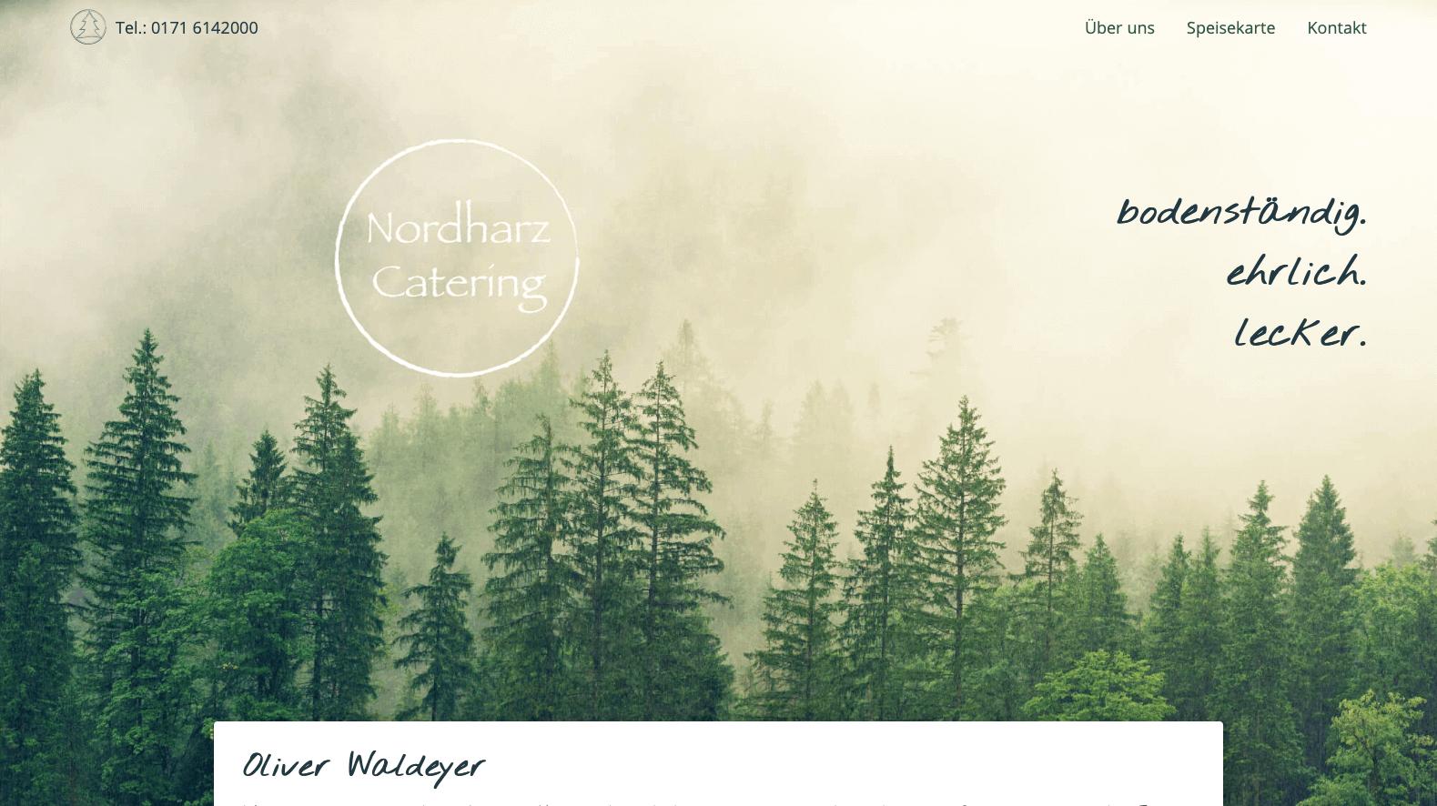 Webdesign Projekt für einen Cateringservice aus Goslar – Nordharz Catering